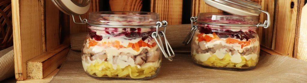 Heringssalat - Schichtsalat